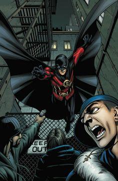 Tim Drake as Red Robin (third boy wonder aka Robin)