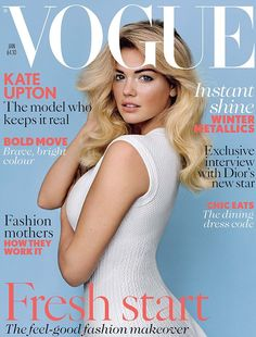 Curvy covergirl: Kate Upton has made her debut on the cover of British Vogue magazine for their January 2013 edition