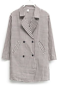 Simply Plaid Oversized Trench Coat