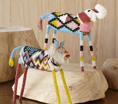 Handmade Beaded African Animals - VivaTerra-- my mom loves these! Africa Art, Beaded Animals, African Beads, African Animals, Kid Spaces, Beading Patterns, Kids Playing, Art Lessons, Vivid Colors