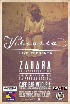 Sala Velouria (Albacete) - 1 de abril, 19:30    Más info: http://www.zaharamania.net/conciertos/