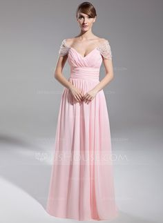 - $139.99 - A-Line/Princess Off-the-Shoulder Floor-Length Chiffon Tulle Evening Dress With Ruffle Beading (008014708) http://jjshouse.com/A-Line-Princess-Off-The-Shoulder-Floor-Length-Chiffon-Tulle-Evening-Dress-With-Ruffle-Beading-008014708-g14708
