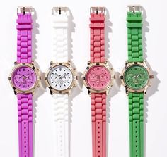 Bold colored watches