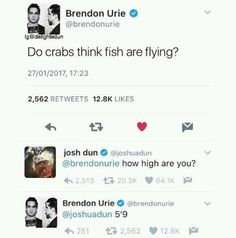 When he had the perfect response to this tweet. | 19 Times Brendon Urie Was Too Precious For This World