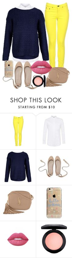 """""""Sin título #14"""" by sarai-almaguer on Polyvore featuring moda, rag & bone, New Look, Yves Saint Laurent, Agent 18, Lime Crime y MAC Cosmetics"""