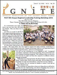FCCY 5th Visayas Regional Leadership Training Workshop 2010 Pope Leo, Visayas, Cebu, Sacred Heart, Regional, Philippines, Leadership, Workshop, Training