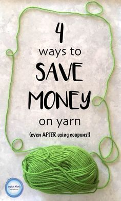 Free crochet patterns are great! But supplies can get expensive! Learn how I save money on my yarn even AFTER coupons using these apps on my phone.