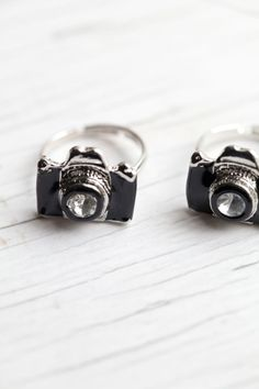 Black Camera Ring via Etsy