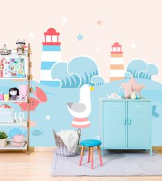 Lovely papers for kids rooms #decor #wallpaper