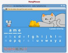 These lists can then be used by their students to play a variety of interactive learning games, including HangMouse, Unscramble, Word Search, and Premium Crossword, plus writing practice activities. They can then take spelling and vocabulary tests within the site and receive instant feedback.