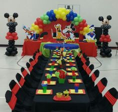 Mickey mouse club house party I did 10/4/14