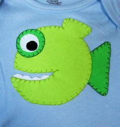 Puffer fish  onesie by SweetPeaskidskrafts on Etsy, $25.00