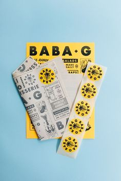 "Baba-G branding by & 🍗🔥 - ""Johannesburg based, Tutto Food Co. approached us to create the brand identity for… Corporate Design, Brand Identity Design, Graphic Design Branding, Menu Design, Book Design, Typography Design, Corporate Identity, Brochure Design, Bold Typography"