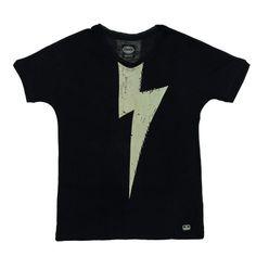 Camiseta Topic Negro para Niña / rocker shirt for girl | #Chipie | Offemily #kids #children