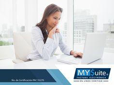 COMPROBANTE FISCAL DIGITAL. Los servicios que ofrecemos en MYSuite son únicos, ya que nuestros clientes pueden acceder a nuestra plataforma desde el lugar donde se encuentren para revisar y realizar movimientos respecto a su nómina, ya que es una solución Cloud en donde encontrará toda su información sin ningún inconveniente. Le invitamos a comunicarse con nosotros al teléfono 01 (55) 1208-4940, para conocer todos los servicios que ofrecemos y cómo pueden beneficiar a su empresa. #MYSuite