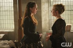 "Reign -- ""Our Undoing"" -- Image Number: RE308a_0365.jpg -- Pictured (L-R): Adelaide Kane as Mary, Queen of Scotland and France and Megan Follows as Catherine de Medici -- Photo: Sven Frenzel/The CW -- © 2015 The CW Network, LLC. All rights reserved."