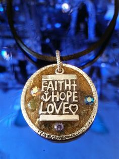Faith Hope & Love, Healing, Orgonite Gem Revival Necklace