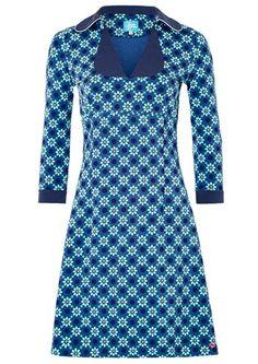 Tante Betsy kjole MIMI Geo Daisy Blue / retro dress