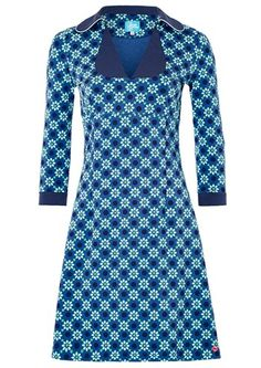 Tante Betsy kjole MIMI Geo Daisy Blue / retro dress