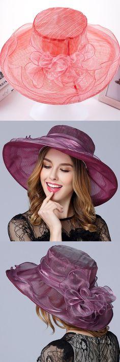 Silk Hat For Women 2017 Summer Wide Brim Floppy Beach Sun Hat Elegant Women  Church Hats Sombreros Mujer Verano Playa 5598eeab4ce
