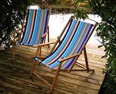 deckchair with armrests