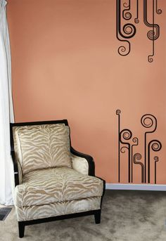 #autocollants #decalques #wallstickers #decals Volutes / Scrolls Design. $48.95