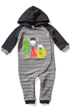 Munster GED Romper Suit black marle