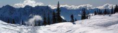 Skiing above Paradise