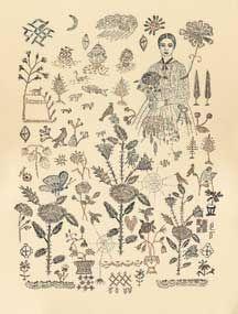 print for Sampler, by Kiki Smith