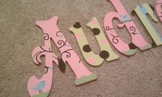 Hand painted wall lettesr to match any decor!