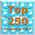 Fundraiser Online: Goede Doelen Twitter Top 250 [Aug 2013]