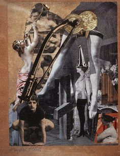 Today's artwork Dada Ernst by inspirational Hannah Höch, art's original punk, according to the Guardian.