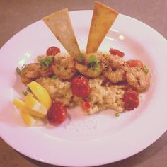 Sauteed Shrimp with Smoked Gouda Risotto