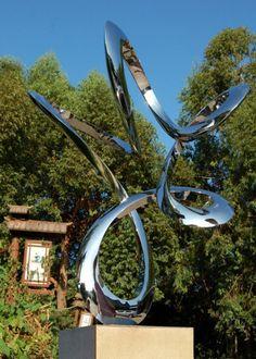 Garden Sculpture | Stainless steel Garden Or Yard sculpture by artist Wenqin Chen titled ...