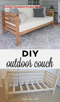 Home Decor small spaces DIY Outdoor Couch How to build a DIY outdoor couch