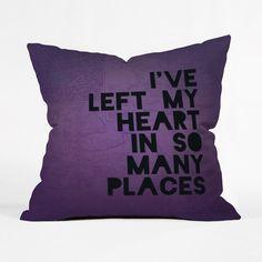A Traveler's Heart Pillow Cover | dotandbo.com