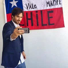 Ian Somerhalder BTS during promotional tour for INTENSE by #AZZAROPOURHOMME in Chile (05/06/15)