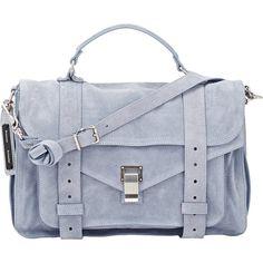 Proenza Schouler Women's PS1 Medium Shoulder Bag ($1,780) ❤ liked on Polyvore featuring bags, handbags, shoulder bags, blue, pocket purse, shoulder strap bag, zipper flap purse, blue shoulder handbags and top handle purse
