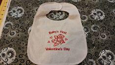 My First Valentine's Day Bib by MindysNeedleArt on Etsy