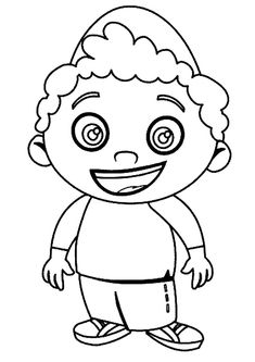 little einsteins leo coloring
