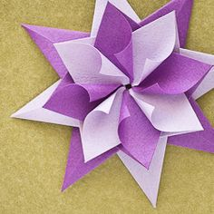 Origami star that will make a fantastic ornament for any Christmas tree!