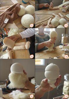 Fabrication poupée : étapes 1 à 6