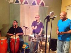 Rehearsing with the late Ricky Soler on vocals & Rene Aponte on Timbales