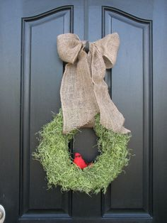 make this for back door but with an oversized bird's nest inside moss wreath. I think I will.