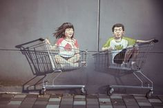 Fascinating Street Art by Ernest Zacharevic   Singapore, 2013. Photo courtesy of Ernest Zacharevic.
