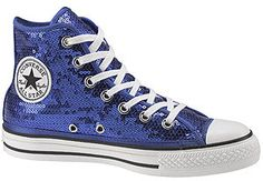 Converse All-Star Blue Sequined Hightops