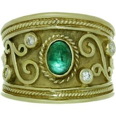 Gold Emerald Rings - Shop for Gold Emerald Rings on Polyvore