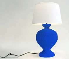 Lego artist Sean Kenney has created a new line of lamps made from... you guessed it.