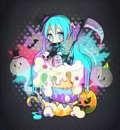 Halloween Vocaloid miku chibi