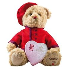 Godiva Valentines Bear & Chocolates from £22.00 I want someone to give this to me for Vday:(